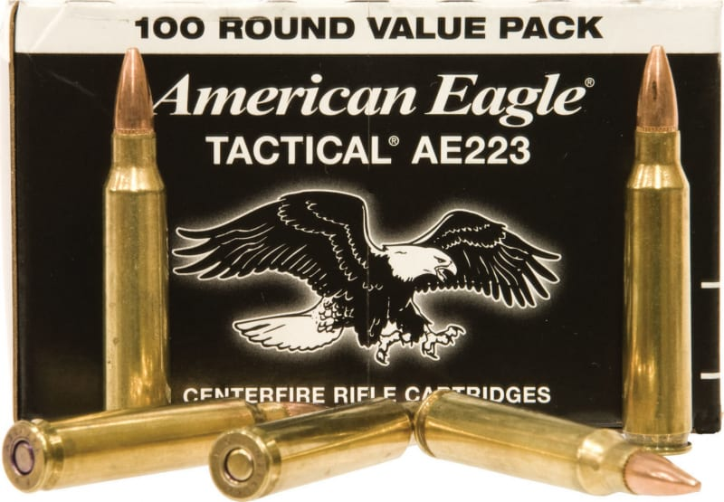 Federal AE223BL American Eagle .223/5.56 NATO 55  GR Full Metal Jacket Boat Tail - 100rd Box