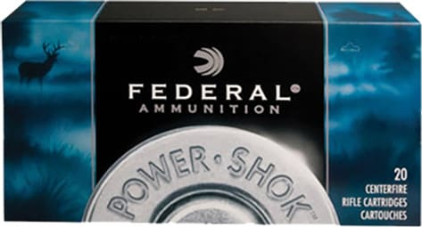 Federal 223A Power-Shok .223/5.56 NATO 55  GR Soft Point - 20rd Box