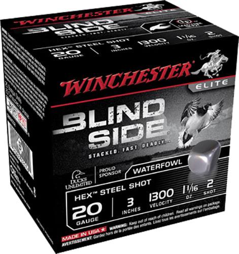 "Winchester Ammo SBS2032 Blindside 20GA 3"" 1-1/16oz #2 Shot - 250sh Case"