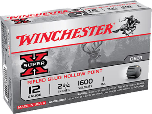 "Winchester Ammo X41RS5 Super-X 410GA 2.5"" 1/5oz Slug Shot - 5sh Box"