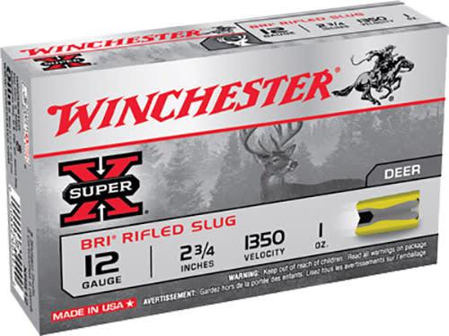 """Winchester Ammo XRS12 Super-X 12GA 2.75"""" 1oz Slug Shot - 5sh Box"""