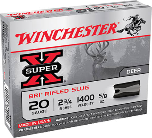 "Winchester Ammo XRS20 Super-X 20GA 2.75"" 5/8oz Slug Shot - 5sh Box"