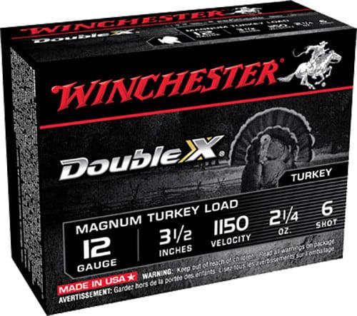 "Winchester Ammo XXT12L6 Double X Turkey 12GA 3.5"" 2-1/4oz #6 Shot - 10sh Box"