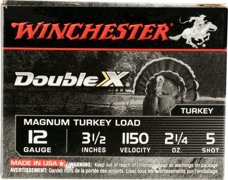 "Winchester Ammo XXT12L5 Double X Turkey 12GA 3.5"" 2-1/4oz #5 Shot - 10sh Box"