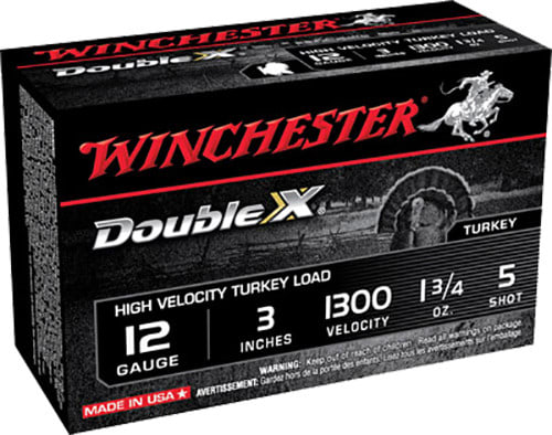 "Winchester Ammo STH1235 Double X Turkey 12GA 3"" 1-3/4oz #5 Shot - 10sh Box"