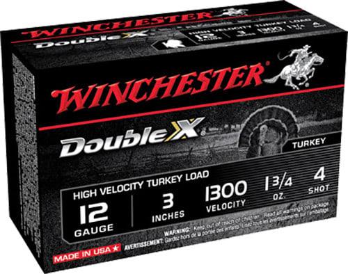 "Winchester Ammo STH1234 Double X Turkey 12GA 3"" 1-3/4oz #4 Shot - 10sh Box"