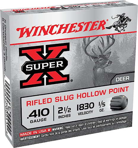 "Winchester Ammo X41RS5VP Super-X 410GA 2.5"" 1/5oz Slug Shot - 15sh Box"
