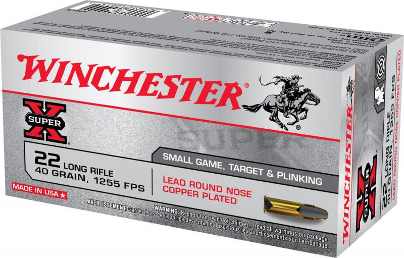 Winchester Ammo X22LR Super-X 22 Long Rifle (LR) 40 GR Lead Round Nose - 50rd Box