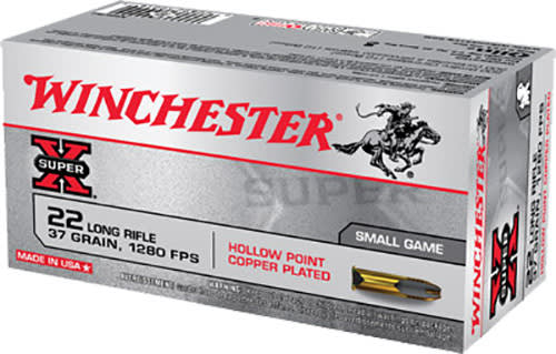 Winchester Ammo X22LRH Super-X 22 Long Rifle (LR) 37 GR Lead Hollow Point - 50rd Box