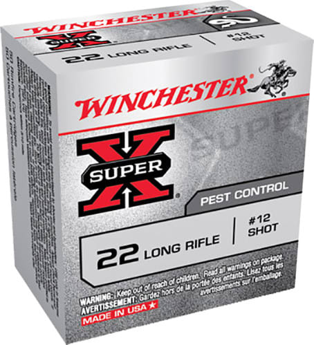 Winchester Ammo X22LRS Super-X 22 Long Rifle 40 GR #12 Shot - 50rd Box