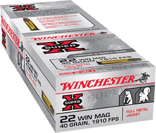 Winchester Ammo X22M Super-X 22 WMR 40 GR Full Metal Jacket - 50rd Box
