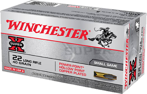 Winchester Ammo X22LRPP Super-X 22 Long Rifle (LR) 40 GR Power-Point - 50rd Box