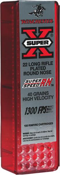 Winchester Ammo X22LRSS1 Super-X 22 Long Rifle 40 GR Round Nose - 100rd Box