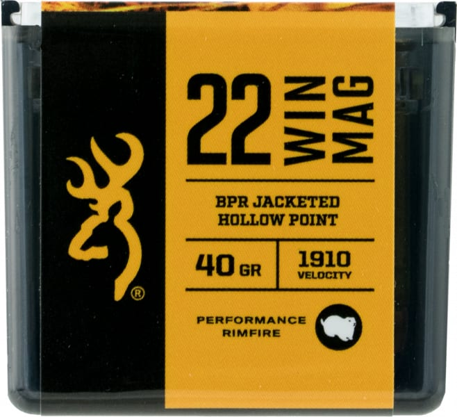 Browning Ammo B195122050 BPR Performance 22 WMR 40 GR Jacketed Hollow Point - 50rd Box