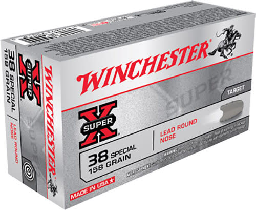 Winchester Ammo X38S1P Super-X 38 Special 158 GR Lead Round Nose - 50rd Box