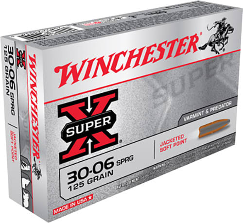 Winchester Ammo X30062 Super-X 30-06 125 GR Pointed Soft Point - 20rd Box