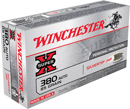 Winchester Ammo X380ASHP Super-X 380 ACP 85 GR Silvertip HP - 50rd Box