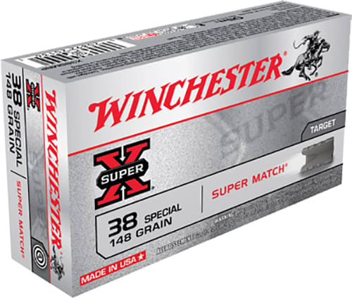 Winchester Ammo X38SMRP Super-X 38 Special 148 GR Lead Wadcutter - 50rd Box