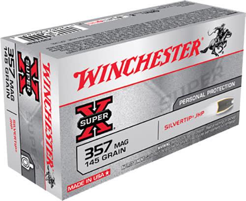 Winchester Ammo X357SHP Super-X 357 Magnum 145 GR Silvertip HP - 50rd Box