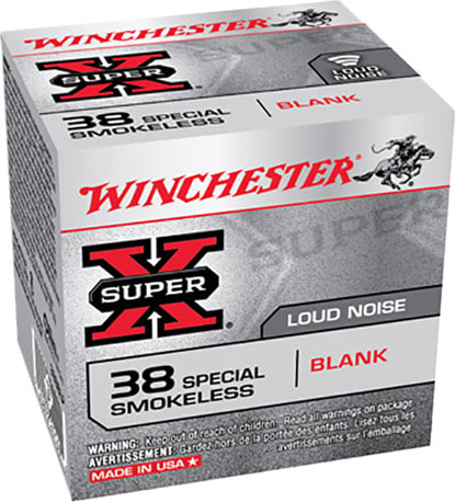 Winchester 38SBLP Super X Smokeless Blank 38 Special - 50rd Box