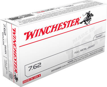 Winchester Ammo Q3130 Winchester Rifle 308 Winchester/7.62 NATO 147 GR Full Metal Jacket - 20rd Box
