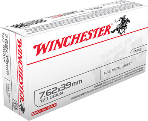 Winchester Ammo Q3174 Winchester Rifle 7.62x39mm 123 GR Full Metal Jacket - 20rd Box