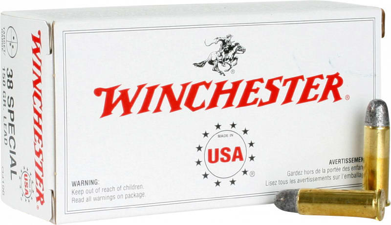 Winchester Ammo Q4196 Best Value 38 Special 150 GR Lead Round Nose - 50rd Box