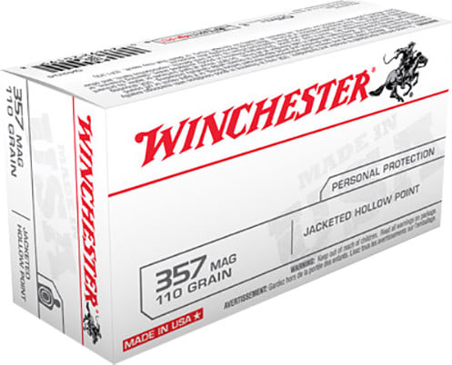 Winchester Ammo Q4204 Best Value 357 Magnum 110 GR Jacketed Hollow Point - 50rd Box
