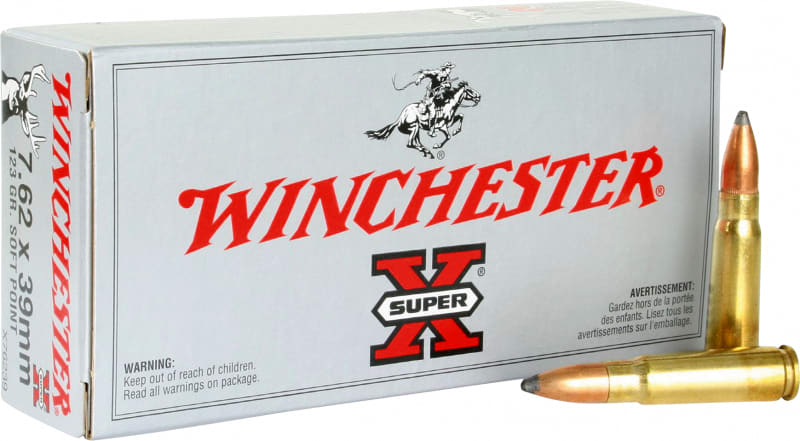 Winchester Ammo X76239 Super-X 7.62x39mm 123 GR Pointed Soft Point - 20rd Box
