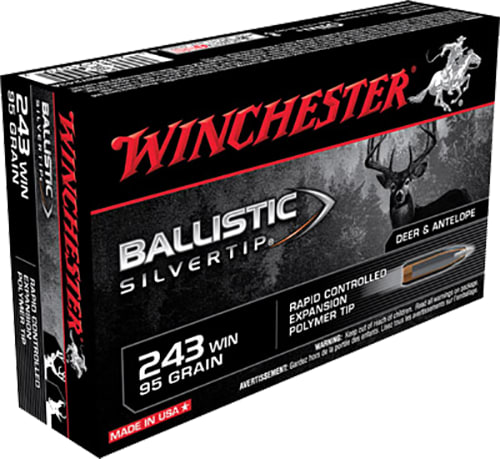 Winchester Ammo SBST243A Supreme 243 Winchester 95 GR Ballistic Silvertip - 20rd Box