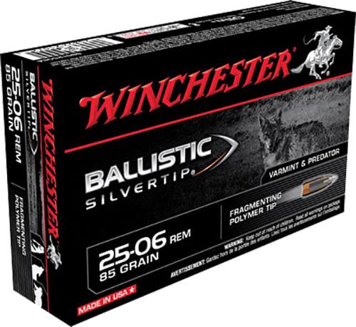 Winchester Ammo SBST2506A Supreme 25-06 Remington 85 GR Ballistic Silvertip - 20rd Box