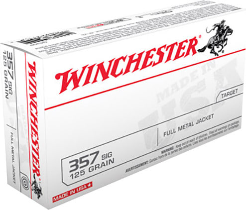 Winchester Ammo Q4309 Best Value 357 Sig Sauer 125 GR Full Metal Jacket - 50rd Box