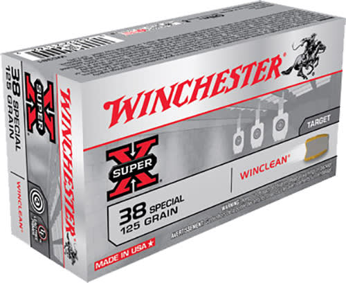 Winchester Ammo WC381 WinClean 38 Special 125 GR Jacketed Flat Point Tin Core - 50rd Box