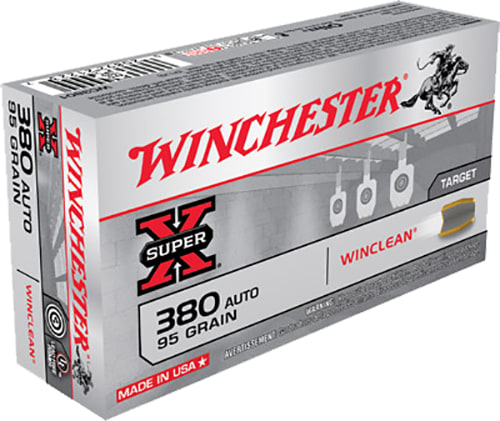 Winchester Ammo WC3801 WinClean 380 ACP 95 GR Brass Enclosed Base - 50rd Box
