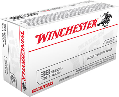 Winchester Ammo USA38SP Best Value 38 Special 125 GR Jacketed Soft Point - 50rd Box