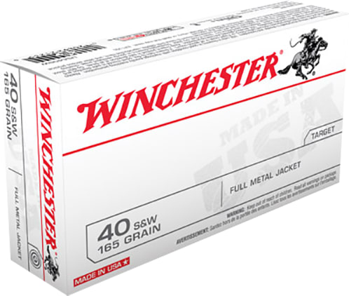 Winchester Ammo USA40SW Best Value 40 Smith & Wesson (S&W) 165 GR Full Metal Jacket - 50rd Box