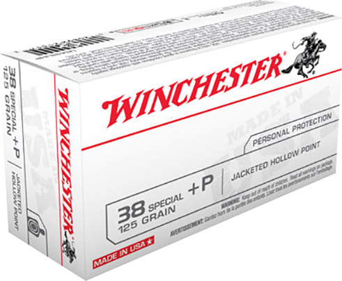 Winchester Ammo USA38JHP Best Value 38 Special +P 125 GR Jacketed Hollow Point - 50rd Box