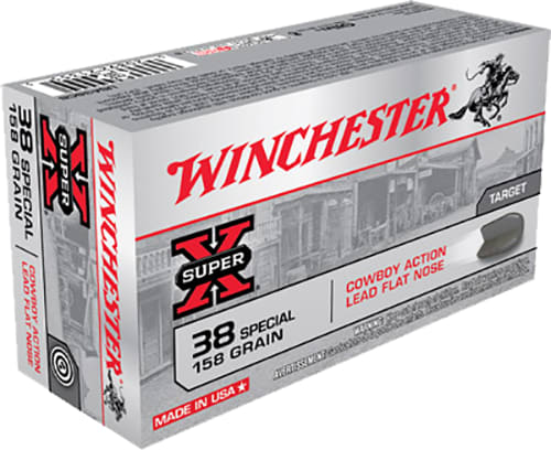 Winchester Ammo USA38CB Super-X 38 Special 158 GR Lead - 50rd Box