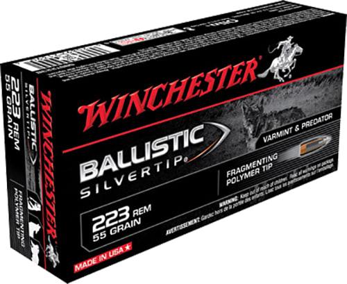 Winchester Ammo SBST223B Supreme .223/5.56 NATO 55 GR Ballistic Silvertip - 20rd Box