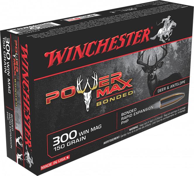 Winchester Ammo X30WM1BP Super-X 300 Winchester Magnum 150 GR Power Max Bonded - 20rd Box