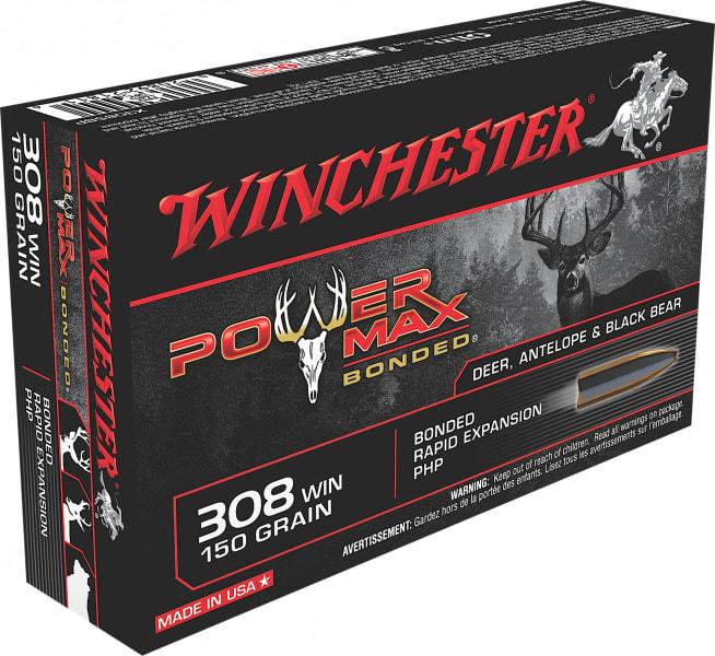 Winchester Ammo X3085BP Super-X 308 Winchester/7.62 NATO 150 GR Power Max Bonded - 20rd Box
