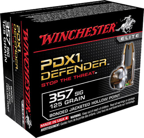 Winchester Ammo S357SPDB Supreme Elite 357 Sig Sauer 125 GR Bonded Jacketed Hollow Point - 20rd Box