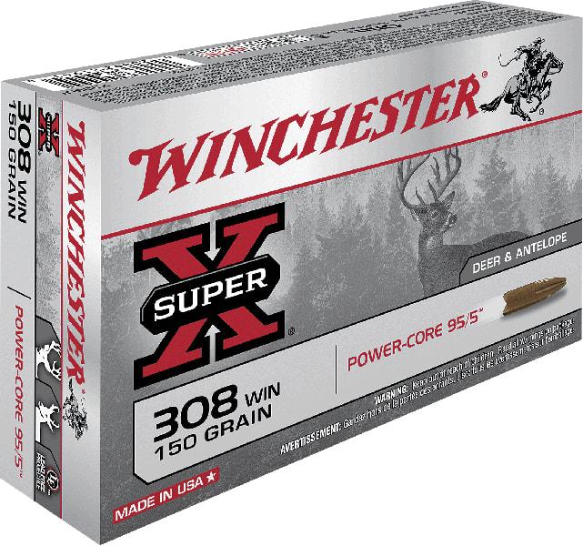 Winchester Ammo X308LF Super-X 308 Winchester/7.62 NATO 150 GR Power Core - 20rd Box