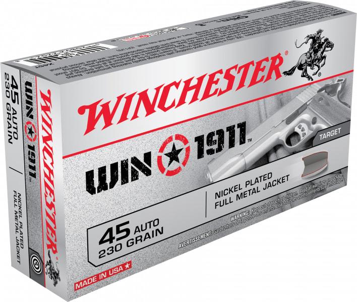 Winchester Ammo X45T Win1911 45 ACP 230 GR Full Metal Jacket - 50rd Box