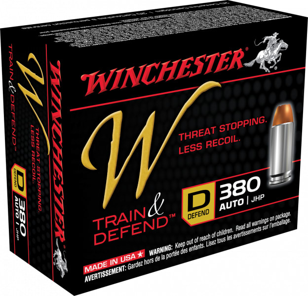 Winchester Ammo W380D W 380 ACP 95 GR Jacketed Hollow Point - 20rd Box