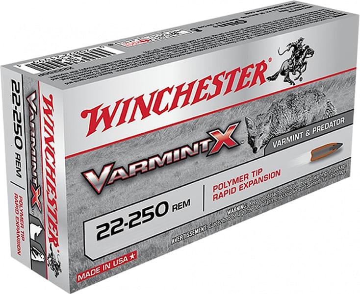 Winchester Ammo X22250PXL Varmint X 22-250 Remington 55 GR - 40rd Box