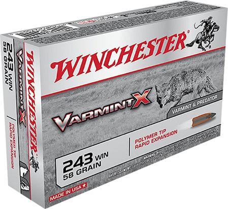 Winchester Ammo X243PXL Varmint X 243 Winchester 58 GR Varmint - 40rd Box