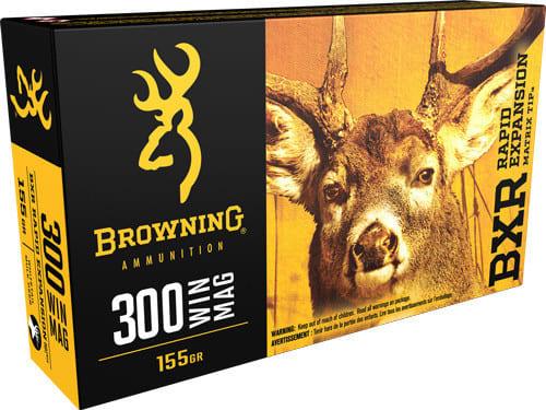 Browning Ammo B192103001 BXR Rapid Expansion 300 Win Mag 155 GR Matrix Tip - 20rd Box