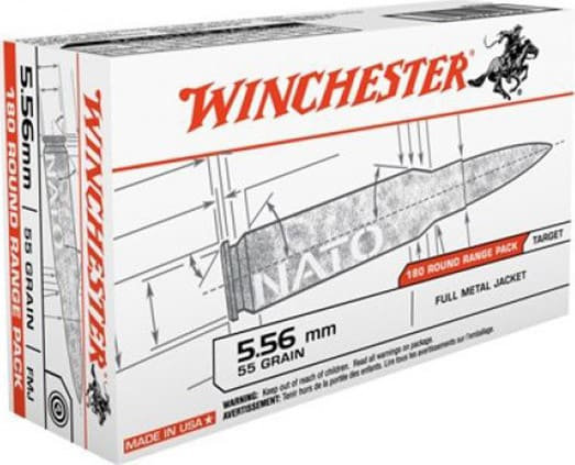 Winchester Ammo USA3131W Usaw .223/5.56 NATO 55 GR Full Metal Jacket - 180rd Box