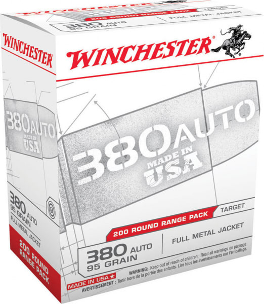 Winchester Ammo USA380W Usaw 380 ACP 95 GR Full Metal Jacket - 200rd Box